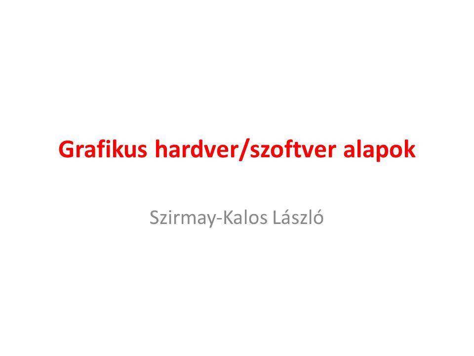 Grafikus hardver/szoftver alapok Szirmay-Kalos László