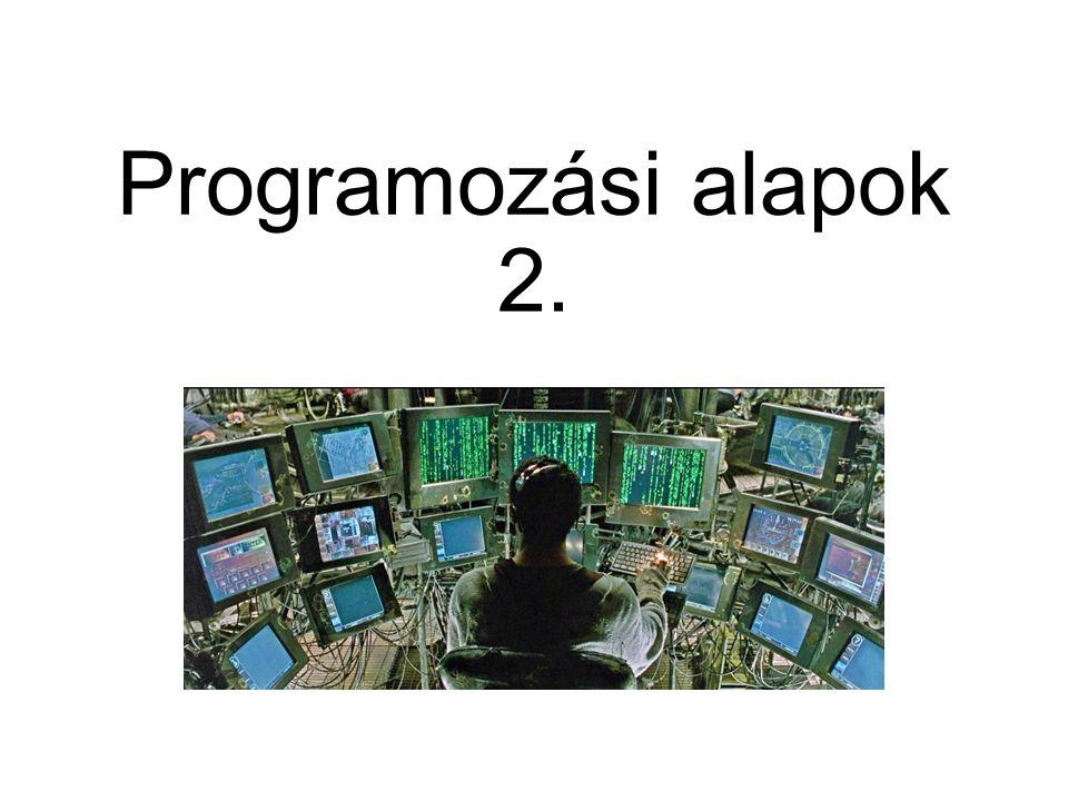 Programozási alapok 2.