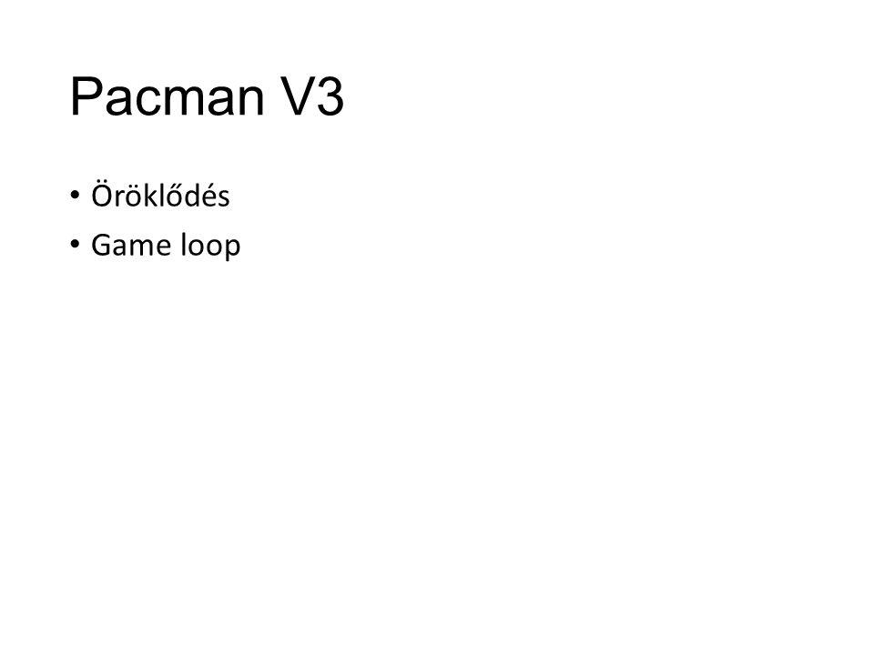 Pacman V3 Öröklődés Game loop
