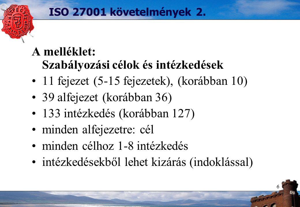 6 ISO 27001 követelmények 2.