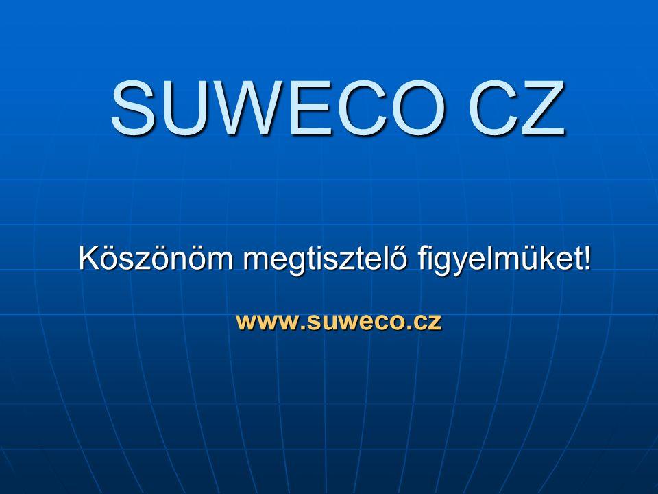 SUWECO CZ Köszönöm megtisztelő figyelmüket! www.suweco.cz www.suweco.cz