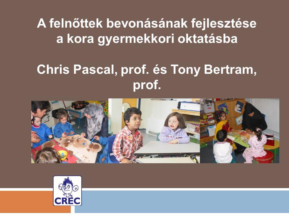 A felnőttek bevonásának fejlesztése a kora gyermekkori oktatásba Chris Pascal, prof.