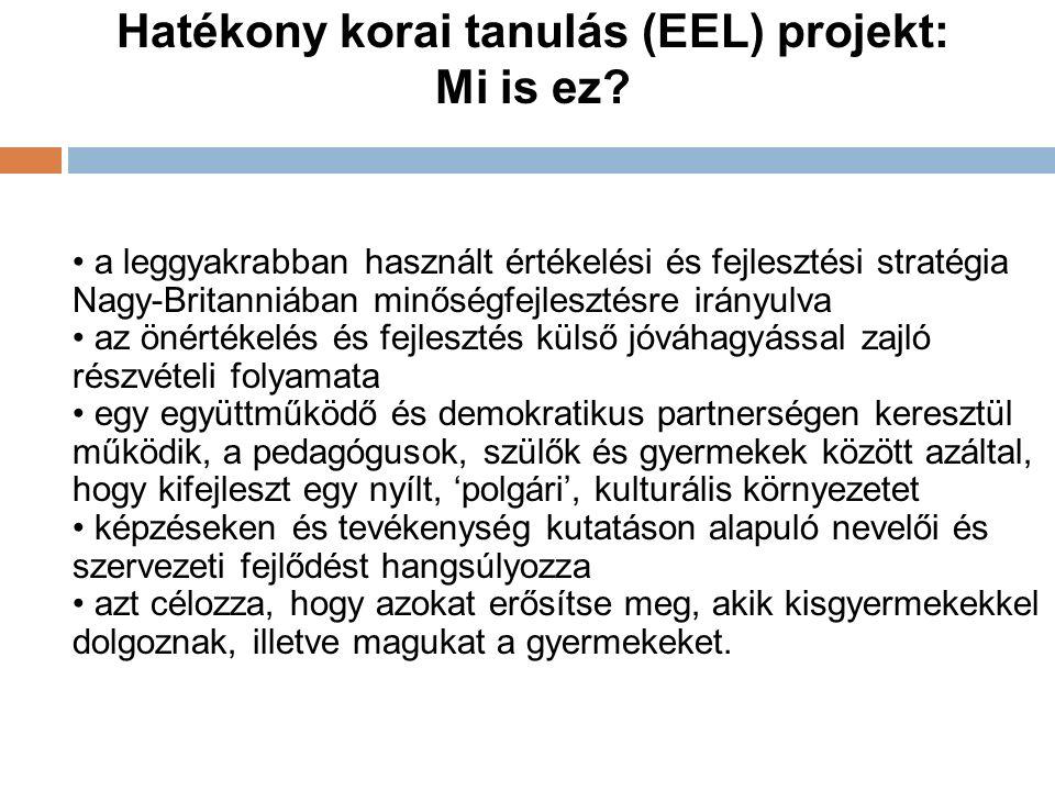 Hatékony korai tanulás (EEL) projekt: Mi is ez.