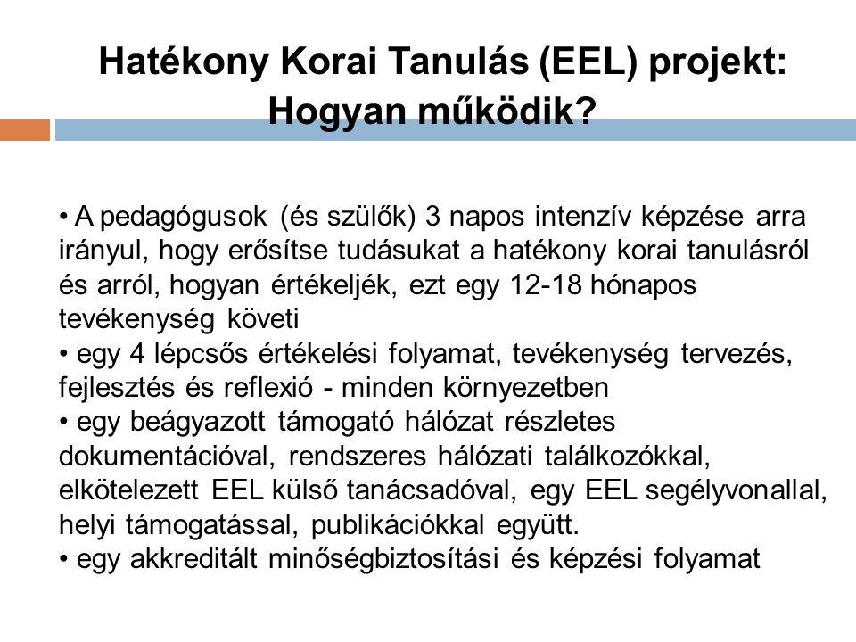 Hatékony Korai Tanulás (EEL) projekt: Hogyan működik.