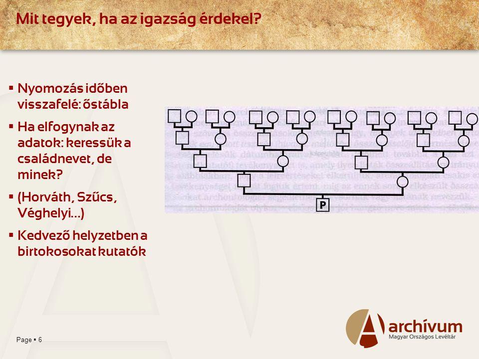 Page  7 A Magyar Nemzeti Levéltár adatbázisai (CD, DVD) AdatbázisokOnline