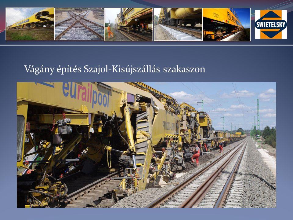 Vágány építés Szajol-Kisújszállás szakaszon