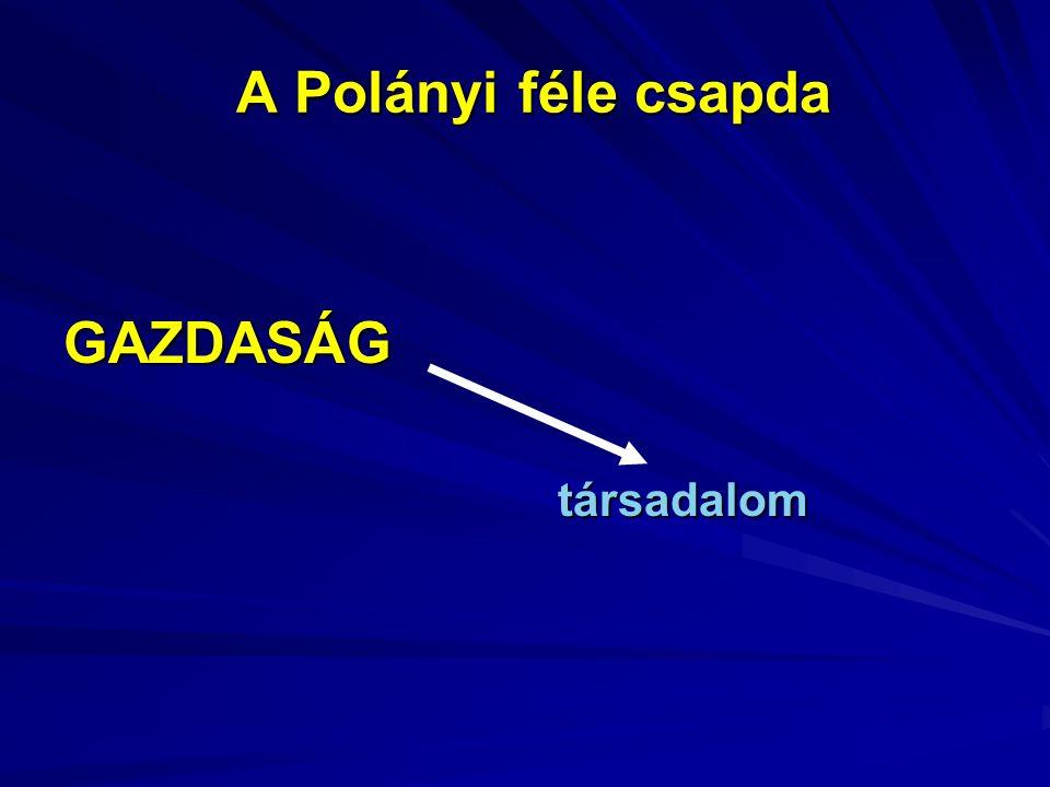 A Polányi féle csapda GAZDASÁG társadalom