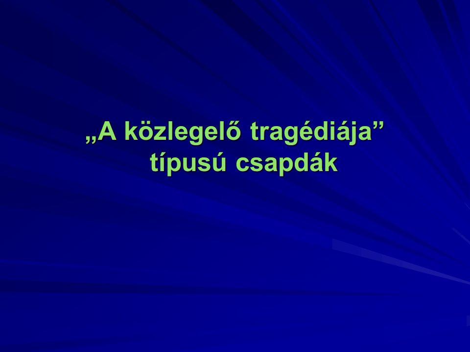 """""""A közlegelő tragédiája típusú csapdák"""