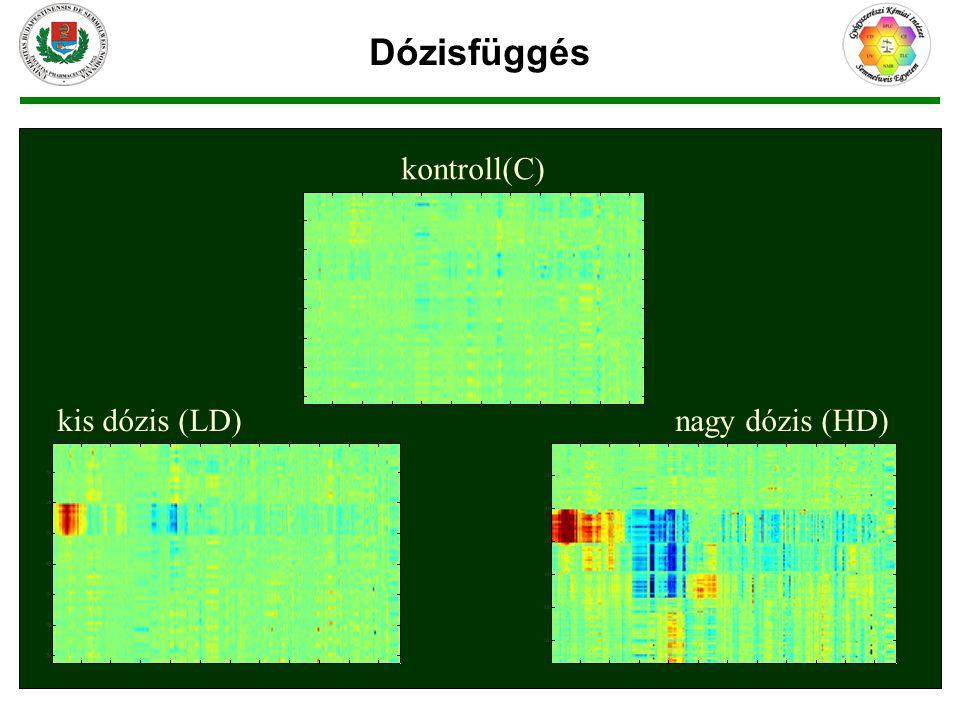 nagy dózis (HD)kis dózis (LD) kontroll(C) Dózisfüggés