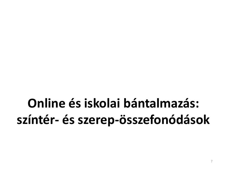 Online és iskolai bántalmazás: színtér- és szerep-összefonódások 7