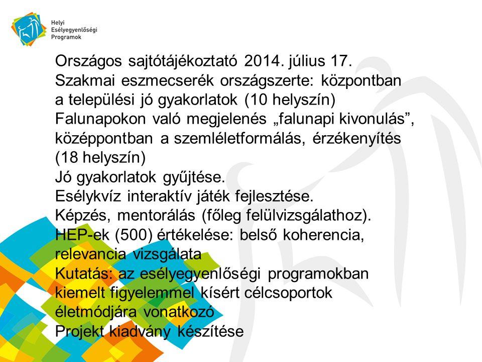 Országos sajtótájékoztató 2014. július 17.