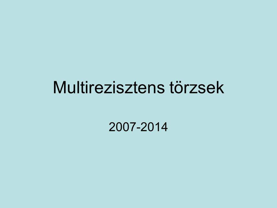 Multirezisztens törzsek 2007-2014