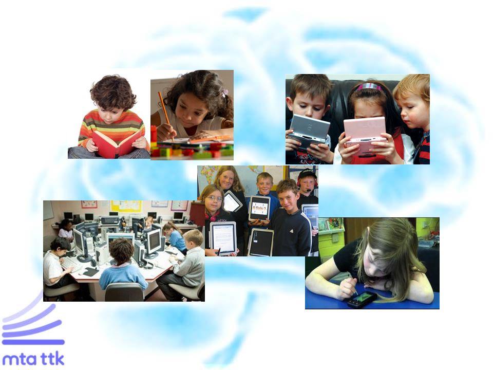 """Multitasking előnyök és hátrányok Kevésbé hatékony az egyes feladatvégzésnél (kevés kivétel) A szükséges kognitív és figyelmi források gyerekkorban még éretlenek """"Media multitasking"""" hátrányos hatása a fejlődő figyelmi rendszerre nem bizonyított Akciót kívánó játékoknak pozitív hatása is lehet Multitasking procedurális tanulásra épül, a deklaratívat nem segíti Új terület: Neuro-ergonómia és kognitív modellezés Cél: optimális munkakörnyezet kialakítása"""