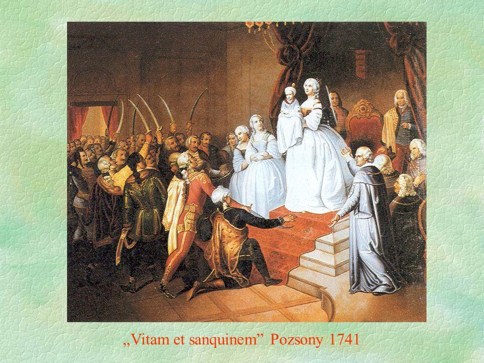 """""""Vitam et sanquinem"""" Pozsony 1741"""