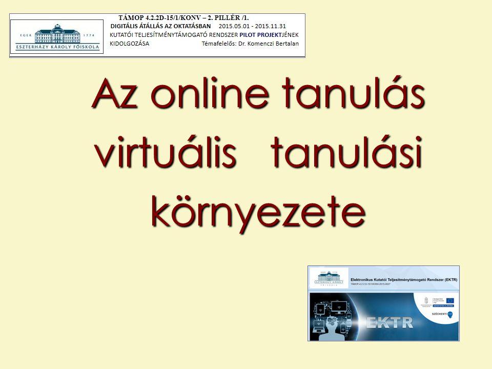 Az online tanulás virtuális tanulási környezete
