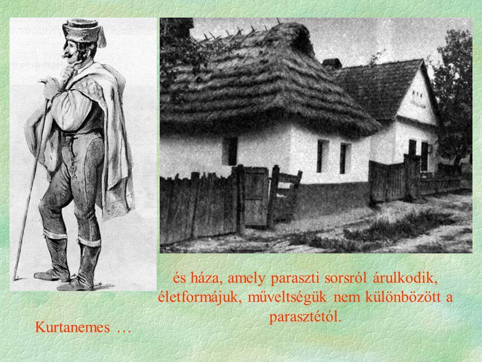 Kurtanemes … és háza, amely paraszti sorsról árulkodik, életformájuk, műveltségük nem különbözött a parasztétól.