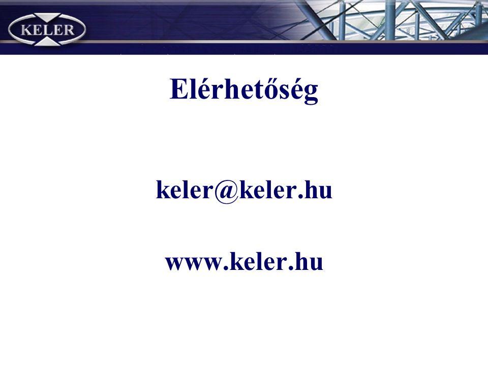 Elérhetőség keler@keler.hu www.keler.hu
