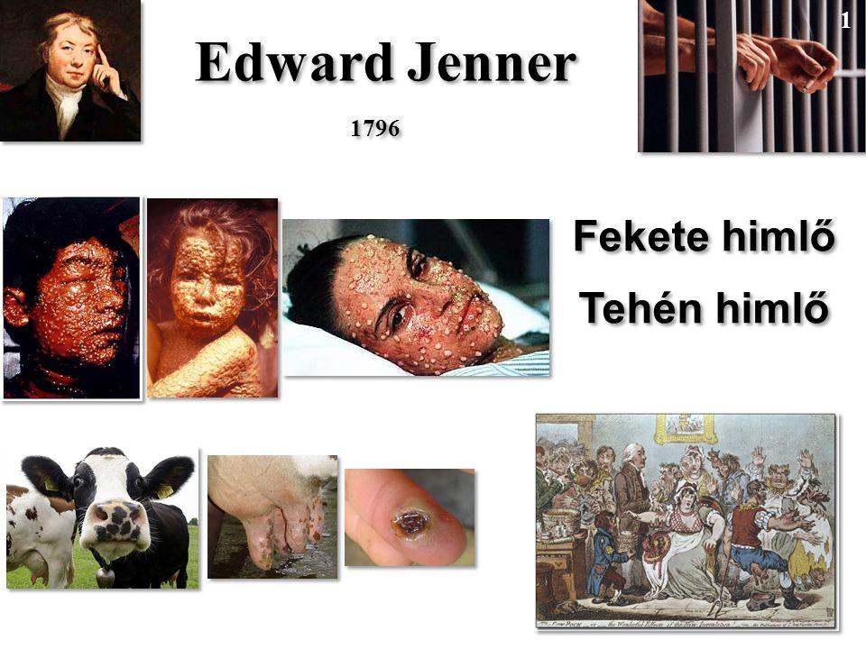 Edward Jenner Fekete himlő Tehén himlő Fekete himlő Tehén himlő 1796 1 1