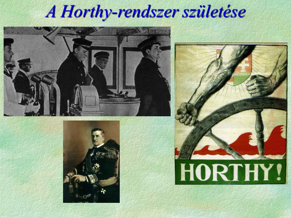 A Horthy-rendszer születése