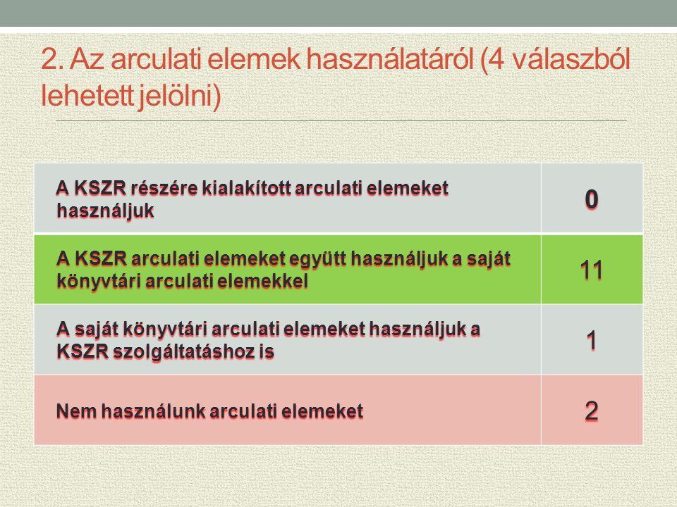 3.A KSZR arculati elemek alkalmazásra kerülnek-e az alábbi felületeken.