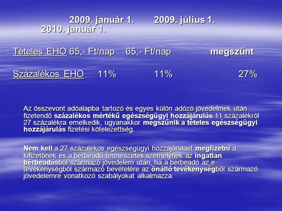 2009. január 1.2009. július 1. 2010. január 1.