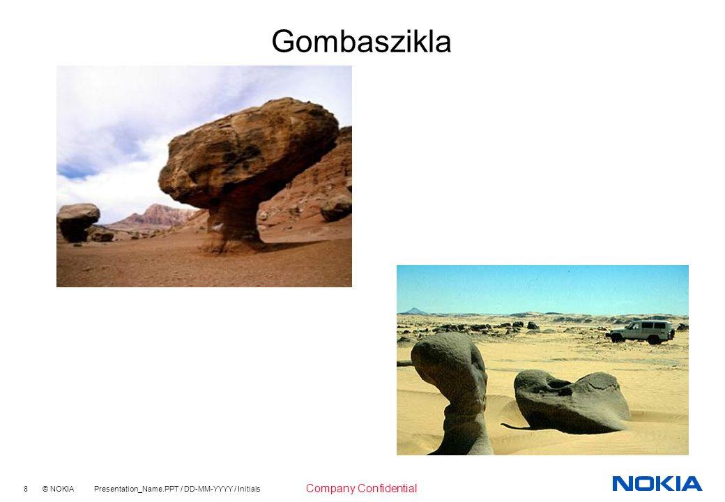 8 © NOKIA Presentation_Name.PPT / DD-MM-YYYY / Initials Company Confidential Gombaszikla