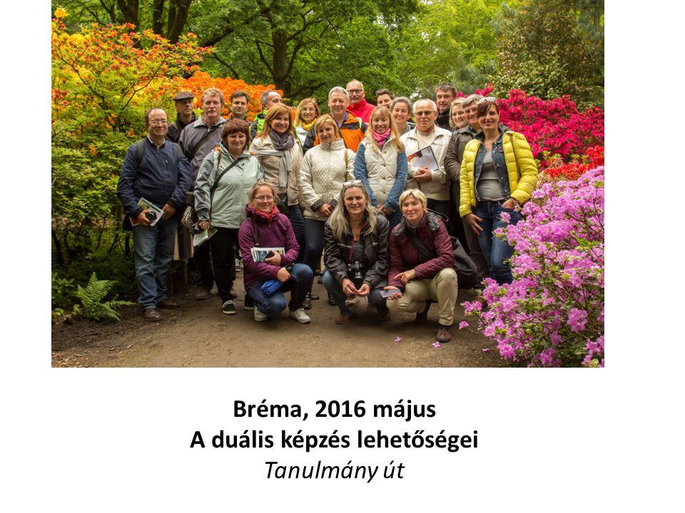 A tanulmányút célja Május hónapban, 20 tanár és cégvezető Bad Zwischenahnban, Niederachsen megyében, Németország területén tanulmányúton vett részt, hogy a duális képzés magyarországi működéséhez ötleteket kapjon.