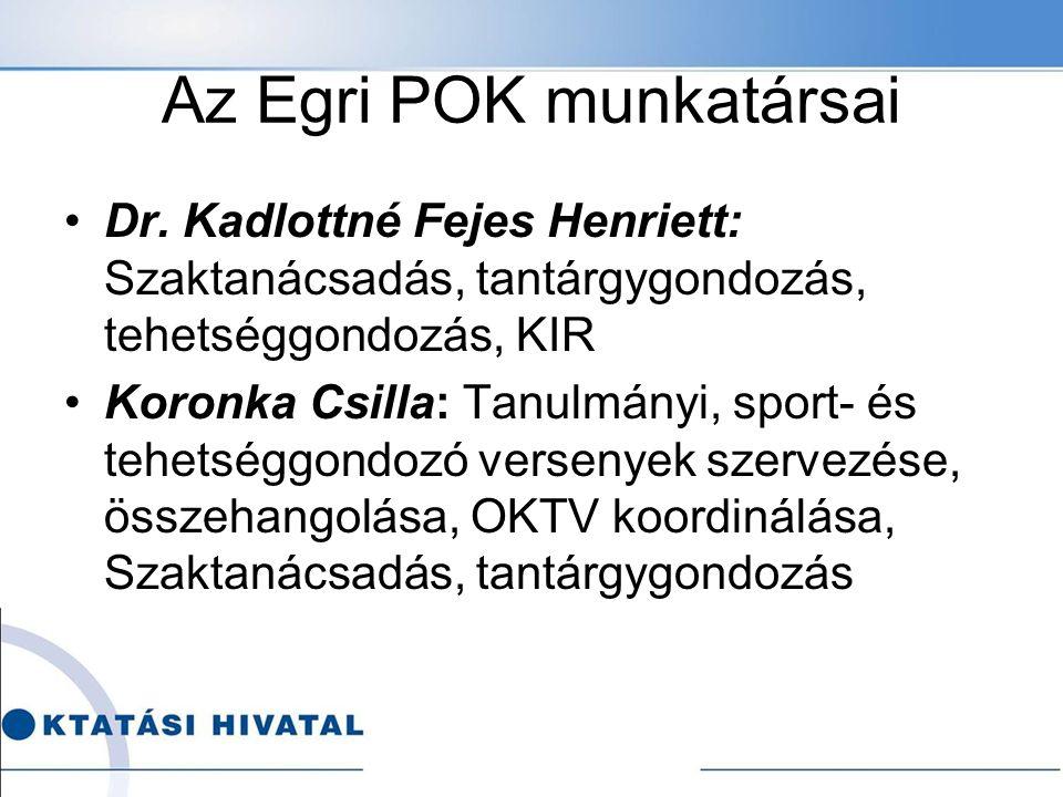 Az Egri POK munkatársai Dr.