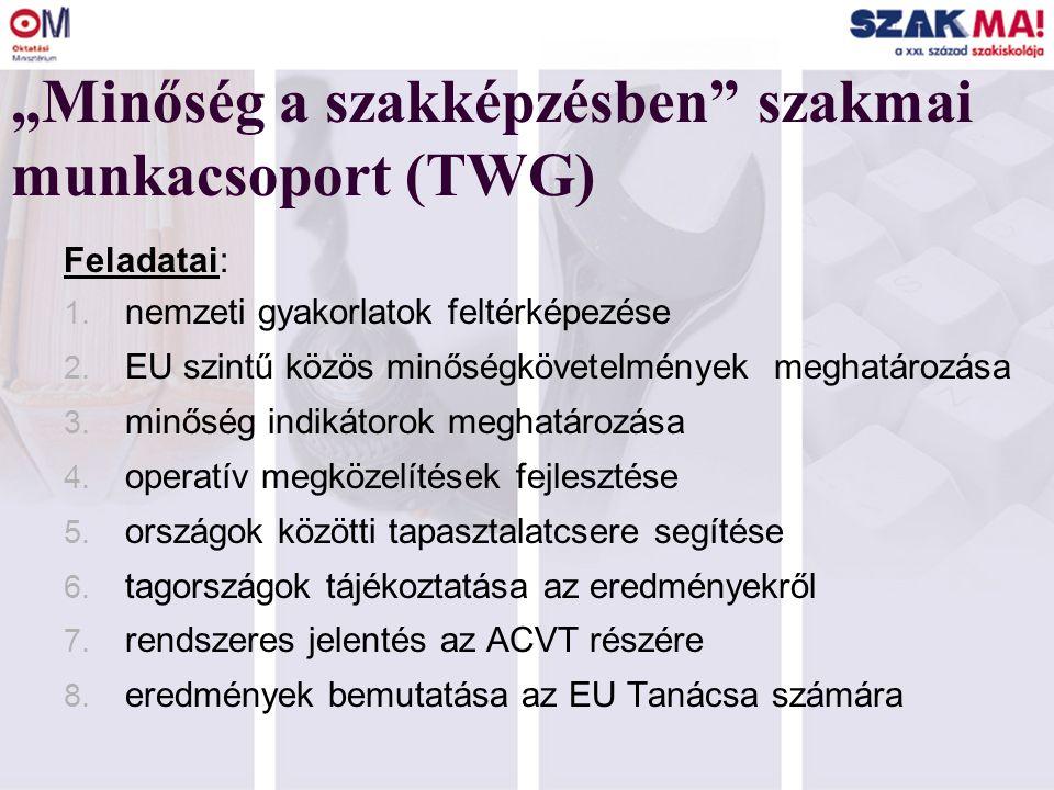 KOPPENHÁGAI NYILATKOZAT PRIORITÁSOK: 1. Az európai dimenzió erősítése a szakképzésben 2.