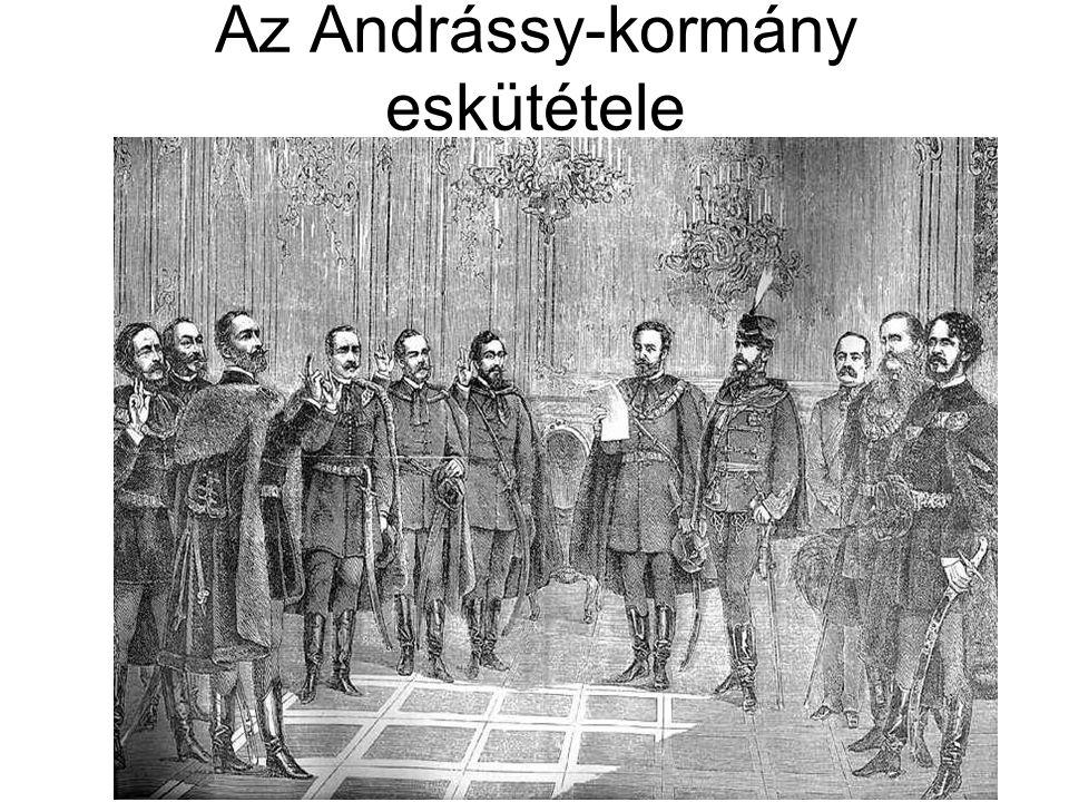 Az Andrássy-kormány eskütétele