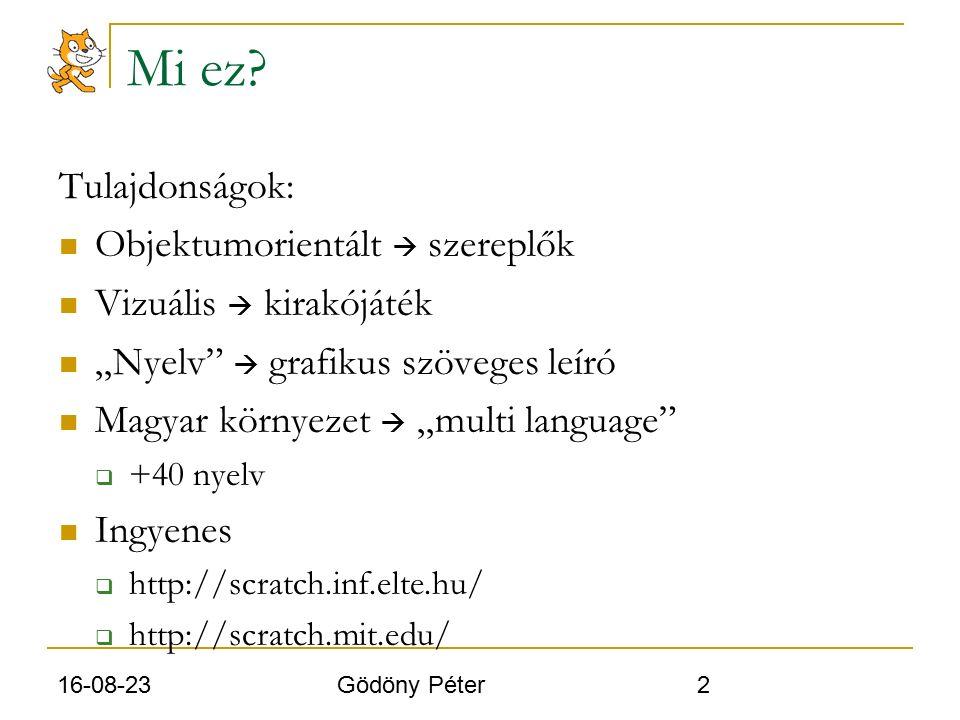 16-08-23 Gödöny Péter 3 Hol fut? Operációs rendszerek: Windows Mac OS X Linux