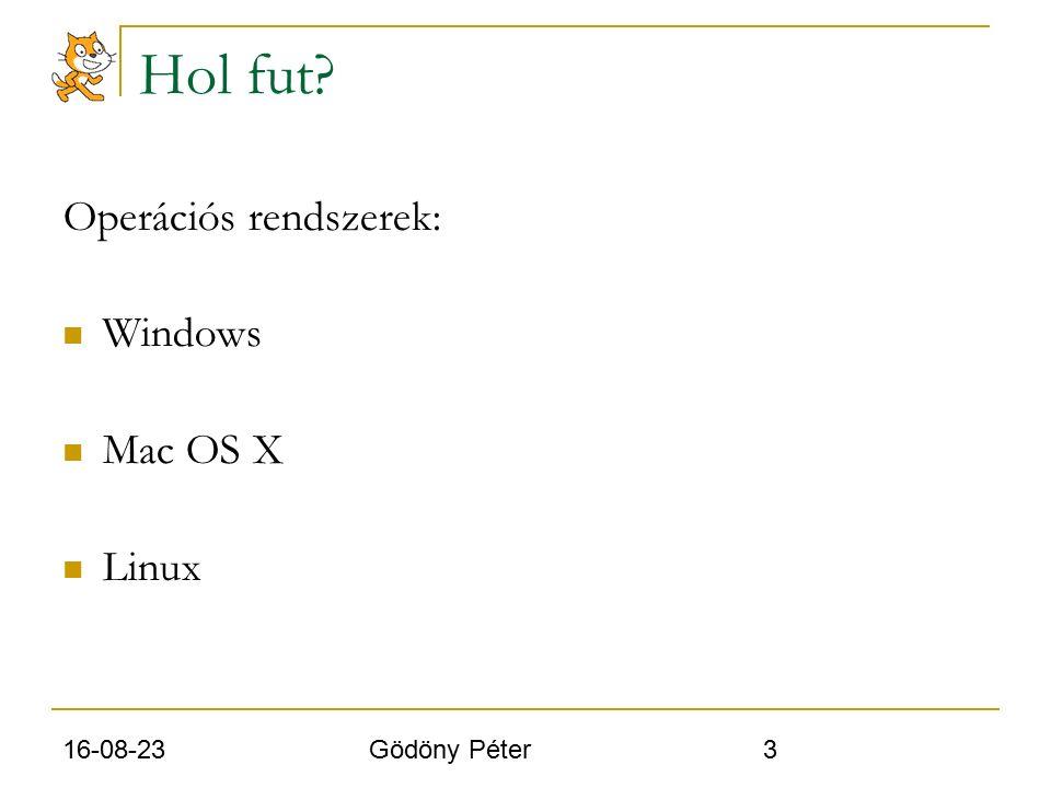 16-08-23 Gödöny Péter 3 Hol fut Operációs rendszerek: Windows Mac OS X Linux