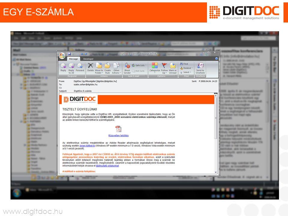 www.digitdoc.hu EGY E-SZÁMLA