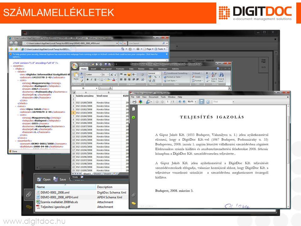 www.digitdoc.hu E-SZÁMLA LETÖLTÉS E-MAIL WEBOLDAL