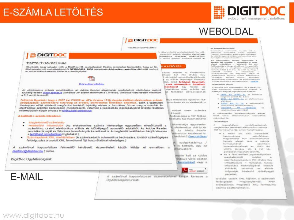 www.digitdoc.hu E-SZÁMLA JOGTÁR  Az e-számlára vonatkozó jogszabályok összefoglalása Az e-számlára vonatkozó jogszabályok összefoglalása  2001 évi XXXV tv.