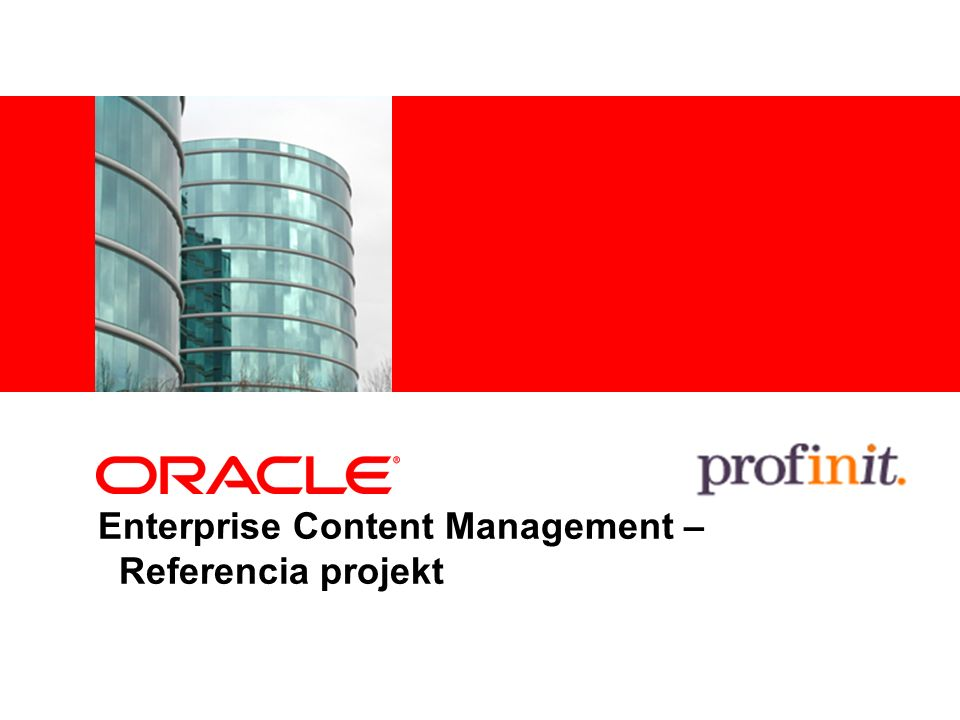 Enterprise Content Management – Referencia projekt