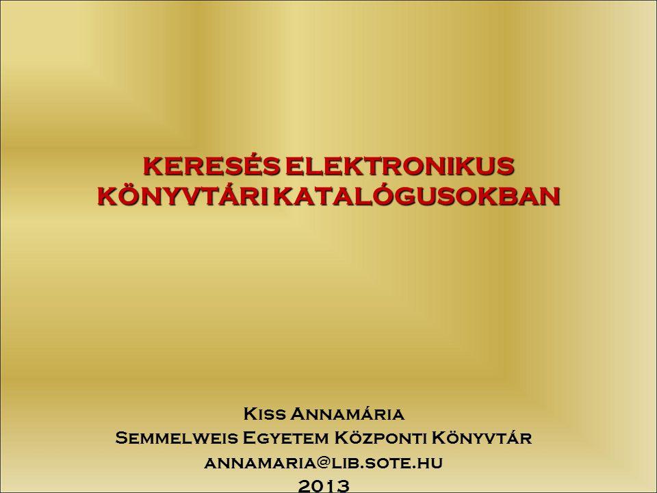 2/45 TARTALOMJEGYZÉK  Általános jellemz ő k és tanácsok  Magyar katalógusok részletes bemutatása  Külföldi katalógusok részletes bemutatása  Egyéb hasznos címek az Interneten (egyetemek, könyvtárak, könyvkiadók, könyvkereskedelem)
