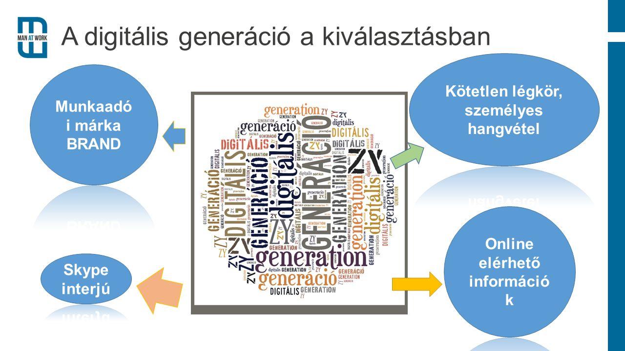 A digitális generáció a kiválasztásban