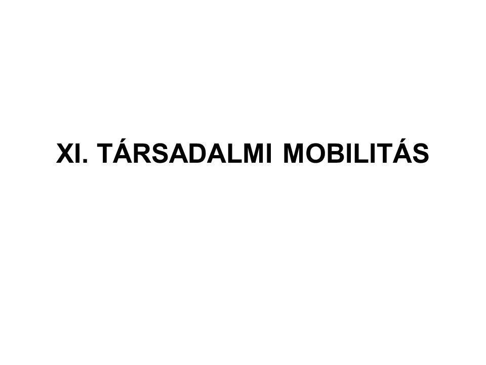 XI. TÁRSADALMI MOBILITÁS