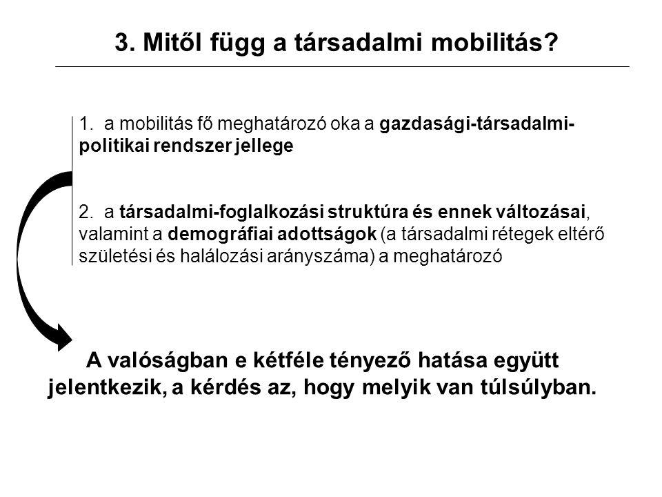 3. Mitől függ a társadalmi mobilitás. 1.