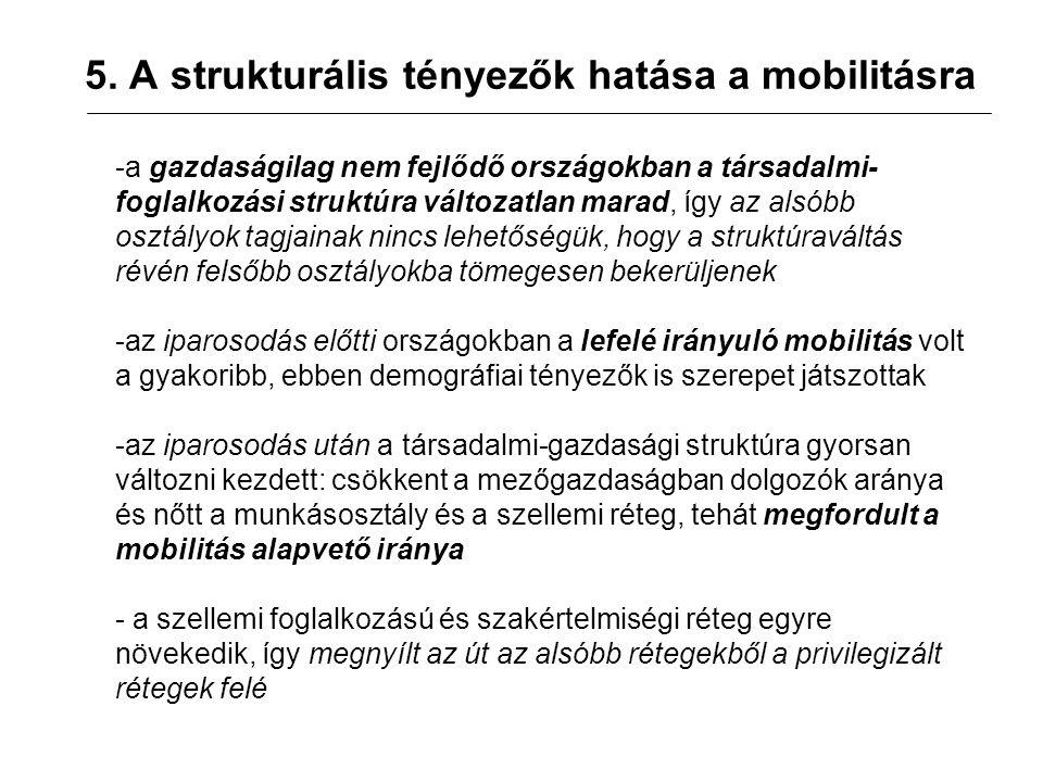 6.Mobilitás és társadalmi egyenlőtlenség Kétféle társadalmi egyenlőtlenség van: 1.