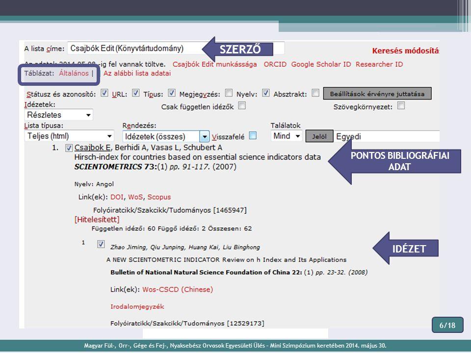 Regisztráció Közlemények és idézetek feltöltése Mentés és duplum ellenőrzés Jóváhagyás és nyilvánossá tétel MTMT használat és publikációk feltöltéséne