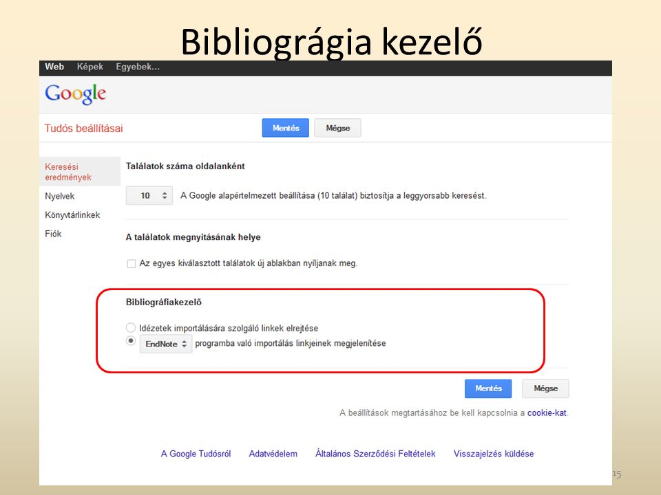 Bibliográgia kezelő 15