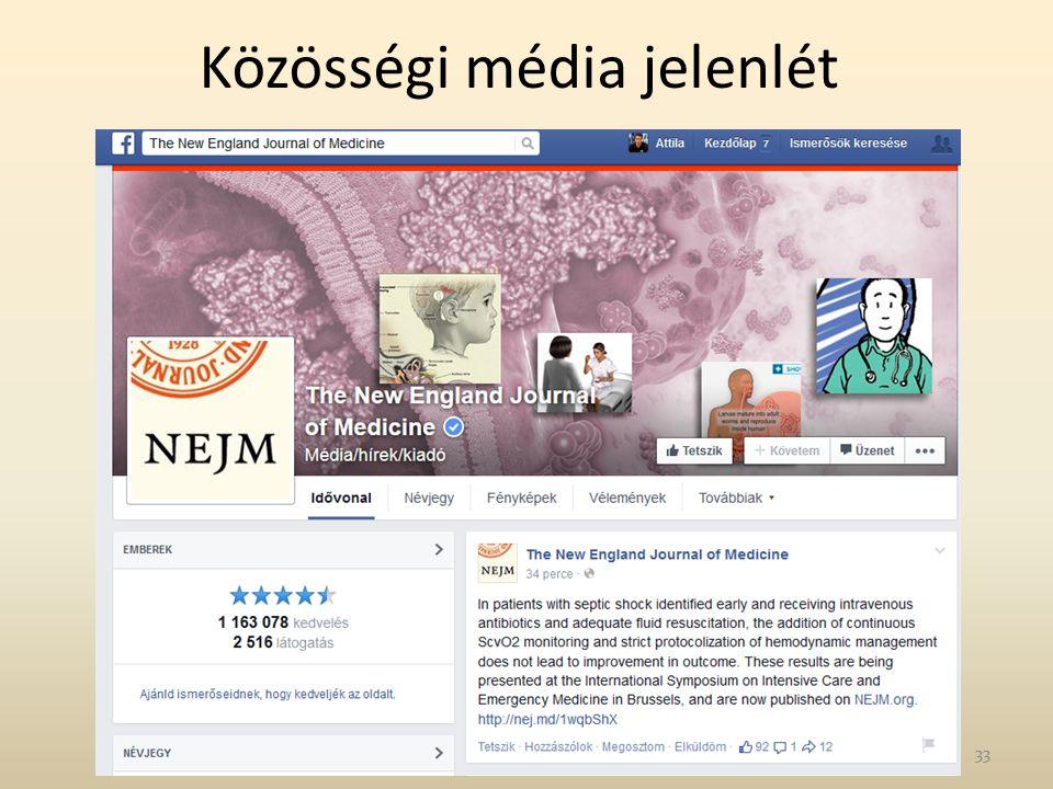 Közösségi média jelenlét 33