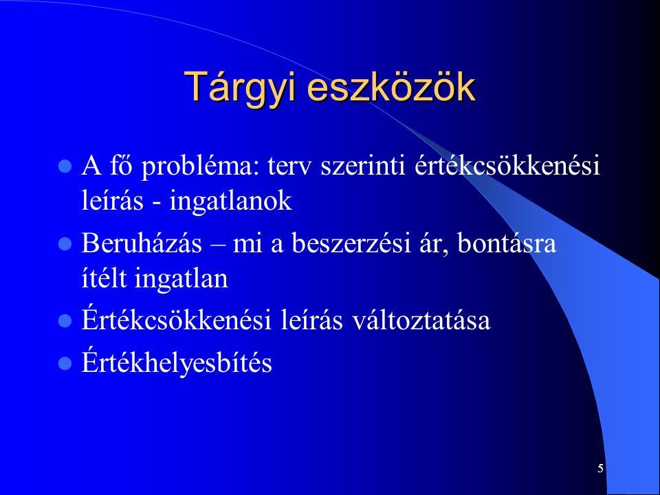 6 Befektetett pénzügyi eszközök Kölcsönök Részesedések – értékelés, nyilvántartás Transzferár