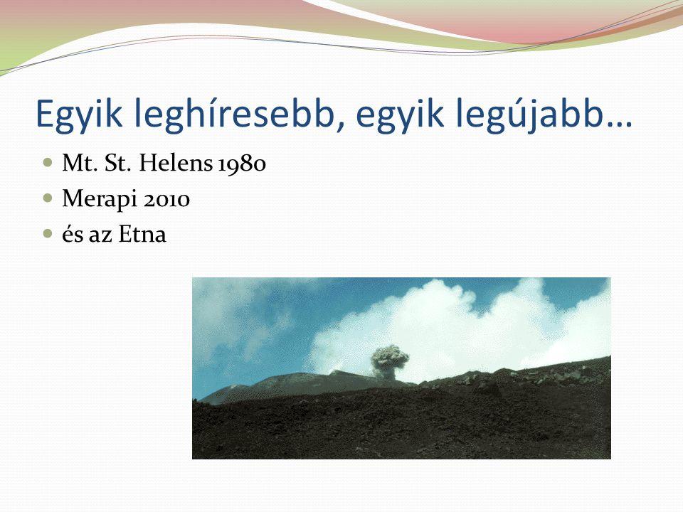 Egyik leghíresebb, egyik legújabb… Mt. St. Helens 1980 Merapi 2010 és az Etna