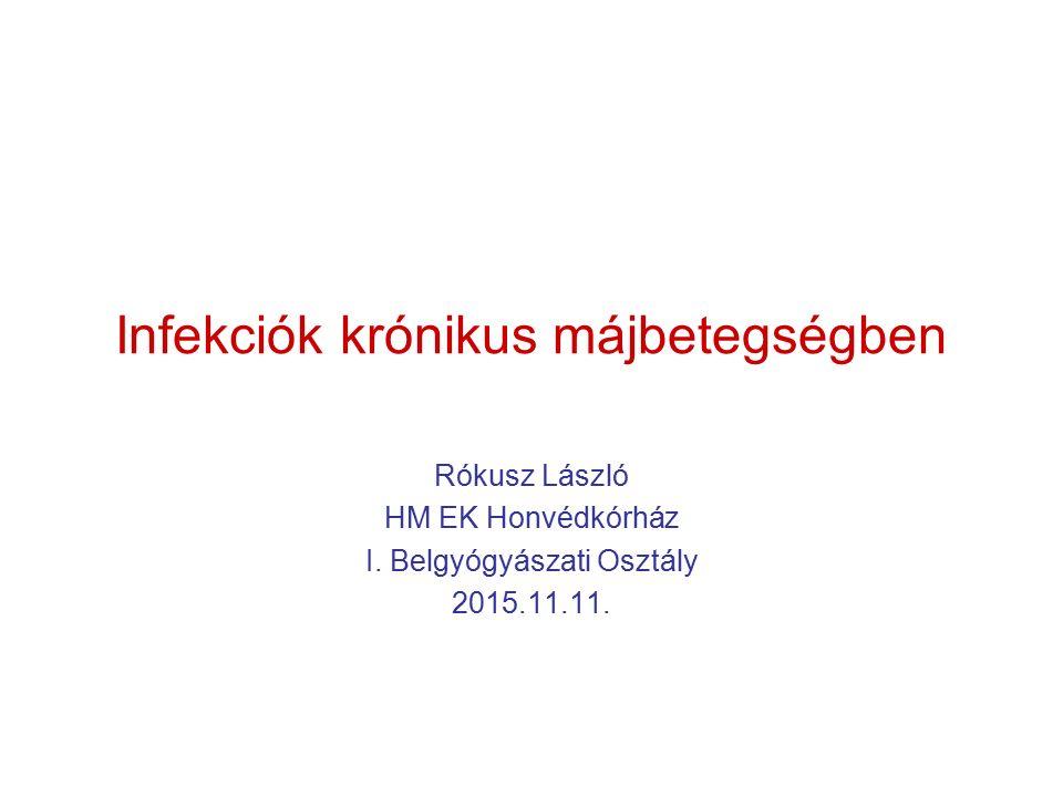 Infekciók krónikus májbetegségben Rókusz László HM EK Honvédkórház I.
