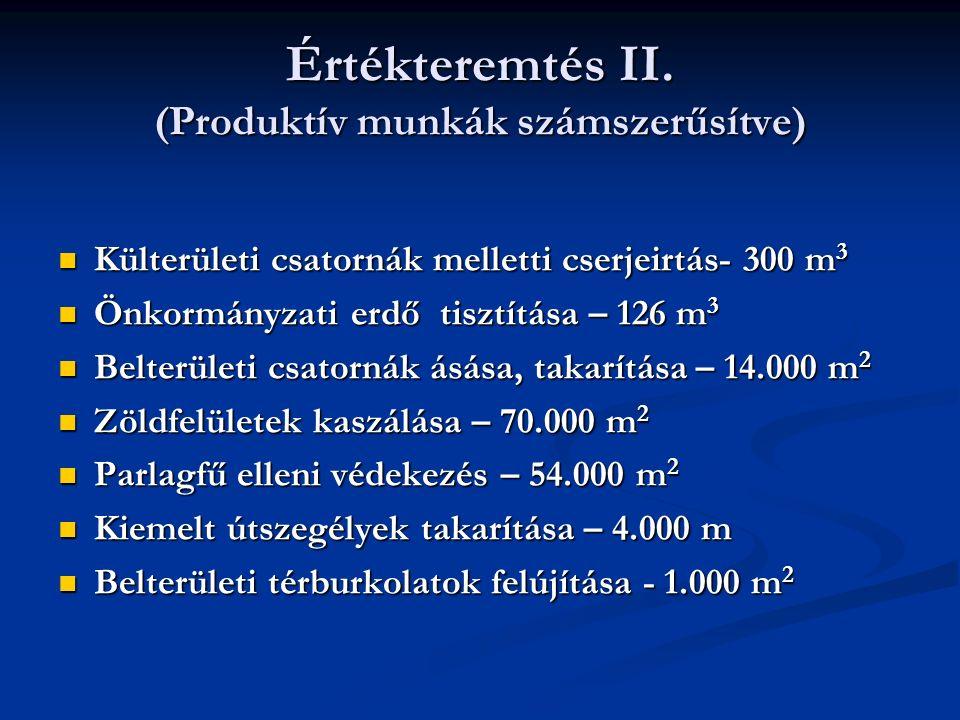 Értékteremtés II.