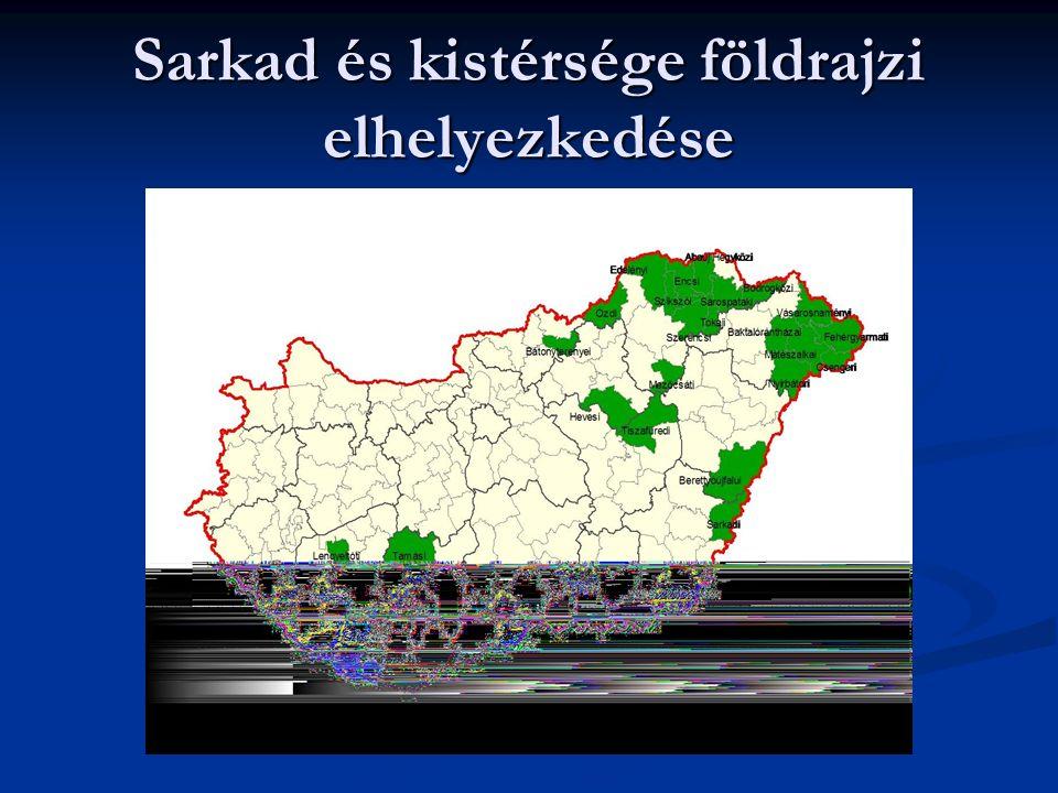 Sarkad és kistérsége földrajzi elhelyezkedése
