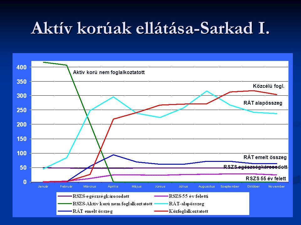 Aktív korúak ellátása-Sarkad I. Közcélú fogl.